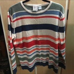 Field Gear Brand New Womans Striped Sweater. Sz PL